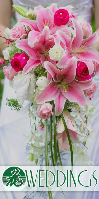 Wedding arrangements and bouquets