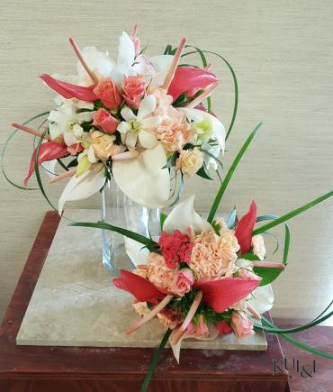 Tropical Stylized Wedding Bouquets