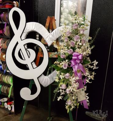 Custom Music Note Wreath