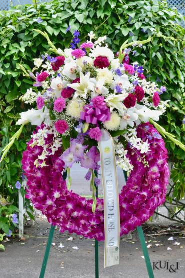 Stunning Stylized Sympathy Wreath