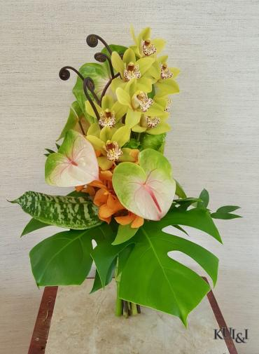 Stylized Tropical Wedding Bouquet