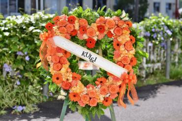 Orange Heart Wreath