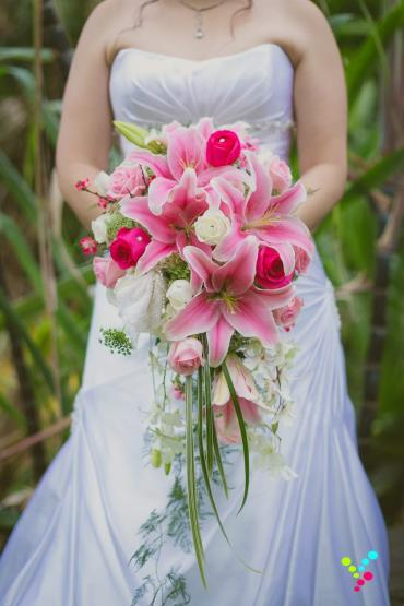 Cascading Lily Bouquet