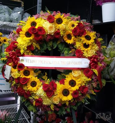 Yellow & Red Circle Wreath
