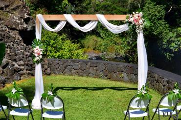 Wooden Wedding Arch