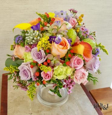 Pastel Colorful Wedding Bouquet