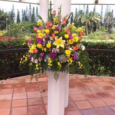 Colorful Wedding Alter Arrangement
