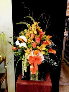 Luxurious Orange Vase Arrangement