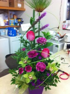 Liatris, rose and cymbidium arr.