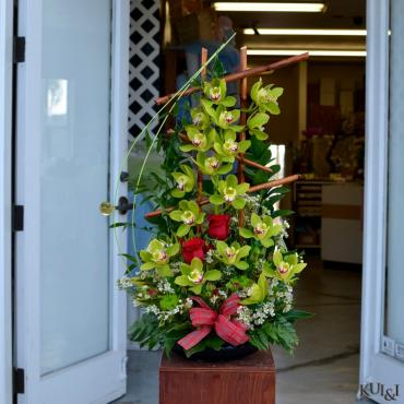 Cymbidium & Rose Arrangement
