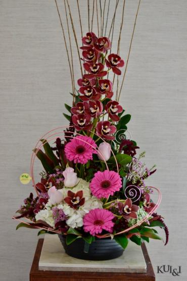 Stylized Cymbidium Arrangement