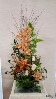 Stylized Cymbidium Tropical Arrangement