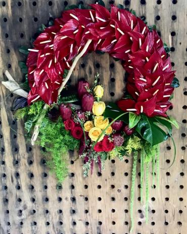 Anthurium Sympathy Wreath