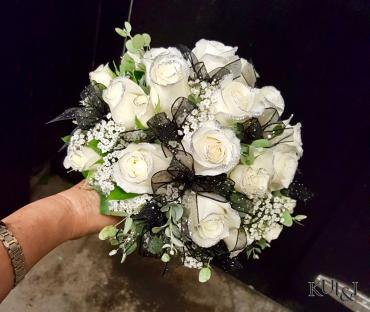 Glittered Rose Wedding Bouquet