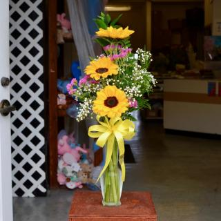 Sunflower Budvase