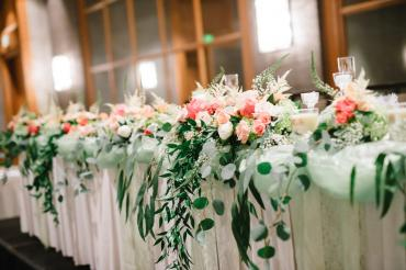 Bridal Party Table Flowers