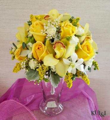 Yellow Tropical Wedding Bouquet