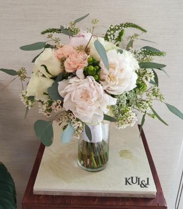 Creme Colored Wedding Bouquet