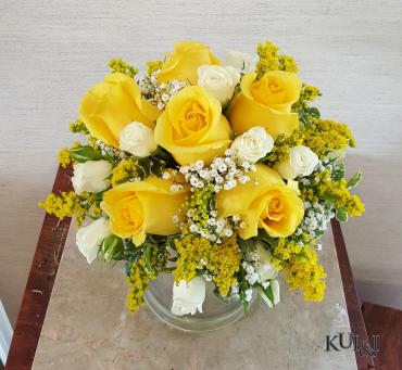 Yellow & White Wedding Bouquet