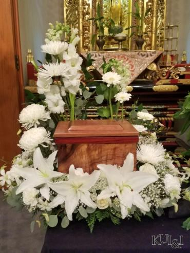 All-White Urn Riser