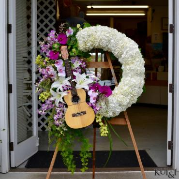 Ukulele Funeral Wreath