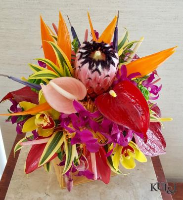 Vibrant Tropical Wedding Bouquet