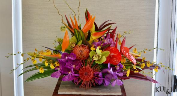 Colorful Tropical Centerpiece