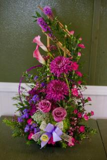 Purple Ikebana Stylized Arrangement