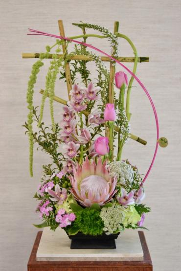 Luxurious Pink Stylized Arrangement