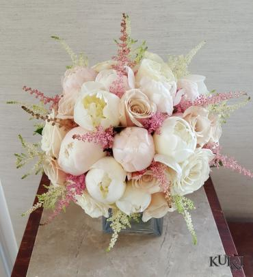 Blush Peony & Rose Wedding Bouquet
