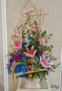 Stunning Blue & Pink  Stylized Arrangement