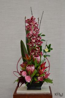 Burgundy Tropical Arrangement
